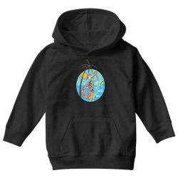 skull drink on the beach with sunset Youth Hoodie | Artistshot