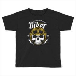 skull biker wear helmet Toddler T-shirt | Artistshot