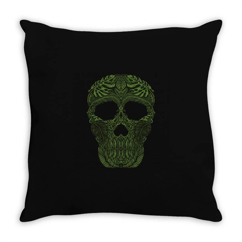 Skull Forest Throw Pillow | Artistshot