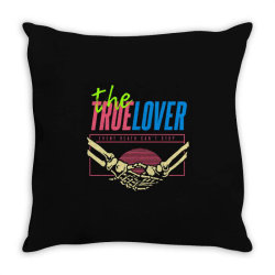 skull couple holding each other Throw Pillow | Artistshot