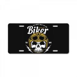 skull biker wear helmet License Plate | Artistshot