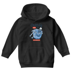 skull chilling on the bucket of ice enjoying summer days Youth Hoodie | Artistshot