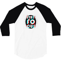 Stay Focus Design Logo 3/4 Sleeve Shirt | Artistshot