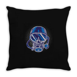 skull diver Throw Pillow | Artistshot
