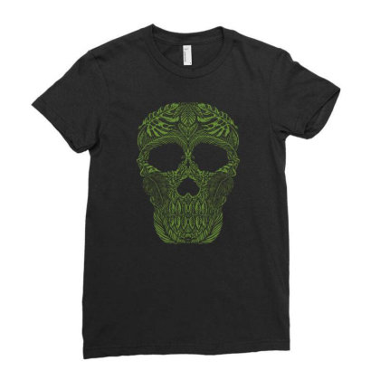 Skull Forest Ladies Fitted T-shirt Designed By Wiraart