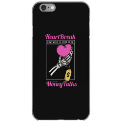 skull hand holding a heart love with price tag on it iPhone 6/6s Case | Artistshot
