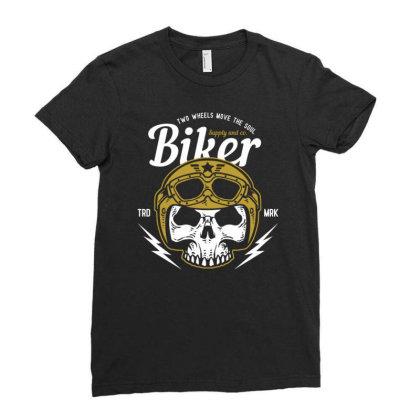 Skull Biker Wear Helmet Ladies Fitted T-shirt Designed By Wiraart