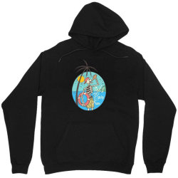 skull drink on the beach with sunset Unisex Hoodie | Artistshot