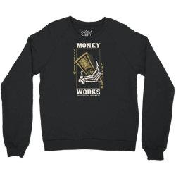 skull hand holding money Crewneck Sweatshirt | Artistshot