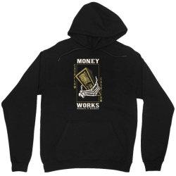 skull hand holding money Unisex Hoodie | Artistshot
