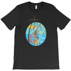 skull drink on the beach with sunset T-Shirt | Artistshot