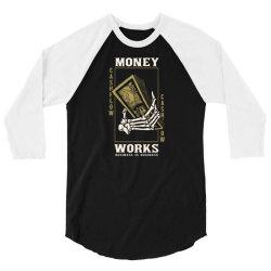 skull hand holding money 3/4 Sleeve Shirt | Artistshot