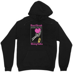 skull hand holding a heart love with price tag on it Unisex Hoodie | Artistshot