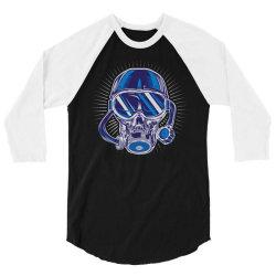 skull diver 3/4 Sleeve Shirt | Artistshot