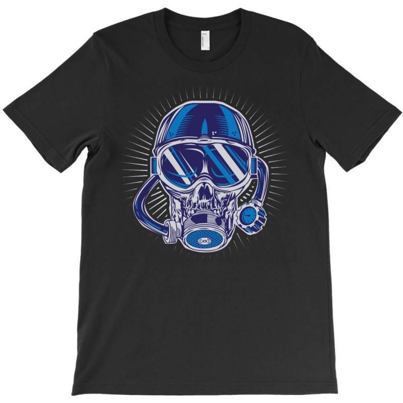 Skull Diver T-shirt | Artistshot