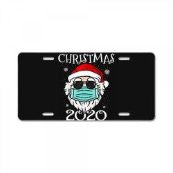 christmas 2020 santa mask quarantine License Plate | Artistshot