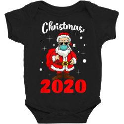 christmas 2020 santa quarantine mask Baby Bodysuit | Artistshot