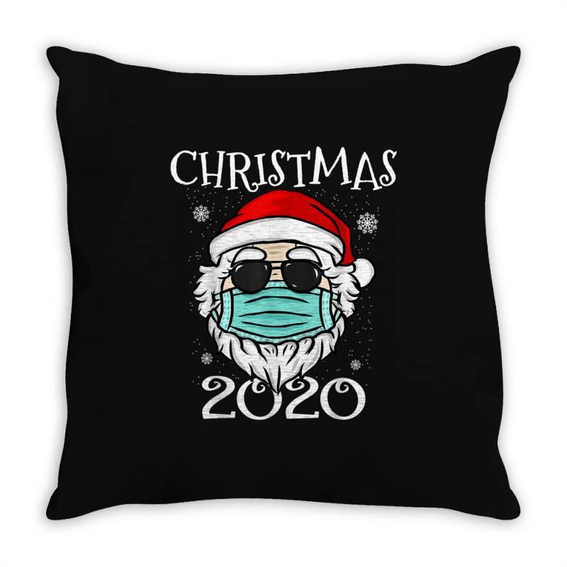 Christmas 2020 Santa Mask Quarantine Throw Pillow | Artistshot