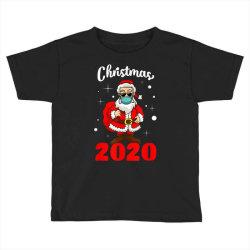 christmas 2020 santa quarantine mask Toddler T-shirt | Artistshot
