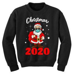 christmas 2020 santa quarantine mask Youth Sweatshirt | Artistshot