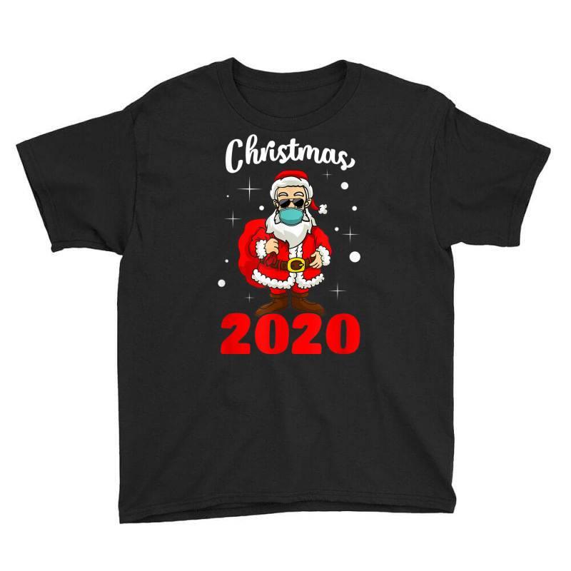 Christmas 2020 Santa Quarantine Mask Youth Tee | Artistshot