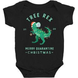 2020 quarantine christmas santa face mask Baby Bodysuit | Artistshot