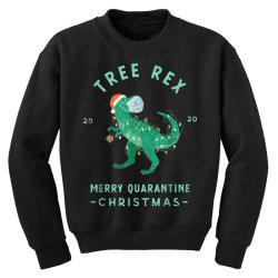 2020 quarantine christmas santa face mask Youth Sweatshirt | Artistshot
