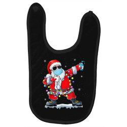 dabbing santa wearing mask toilet paper christmas Baby Bibs | Artistshot