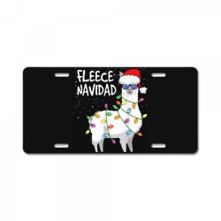 christmas navidad llama License Plate | Artistshot