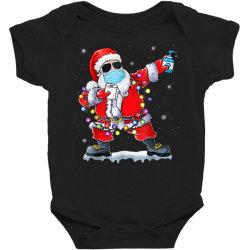 dabbing santa wearing mask toilet paper christmas Baby Bodysuit | Artistshot