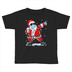 dabbing santa wearing mask toilet paper christmas Toddler T-shirt | Artistshot