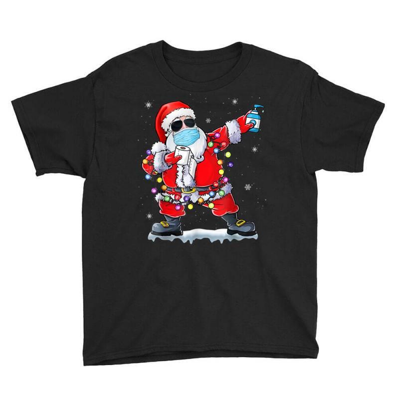 Dabbing Santa Wearing Mask Toilet Paper Christmas Youth Tee | Artistshot