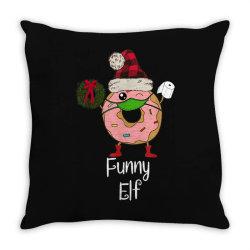 elf quarantine christmas donut 2020 Throw Pillow   Artistshot
