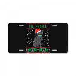 ew people black cat face mask License Plate | Artistshot