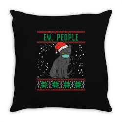 ew people black cat face mask Throw Pillow | Artistshot