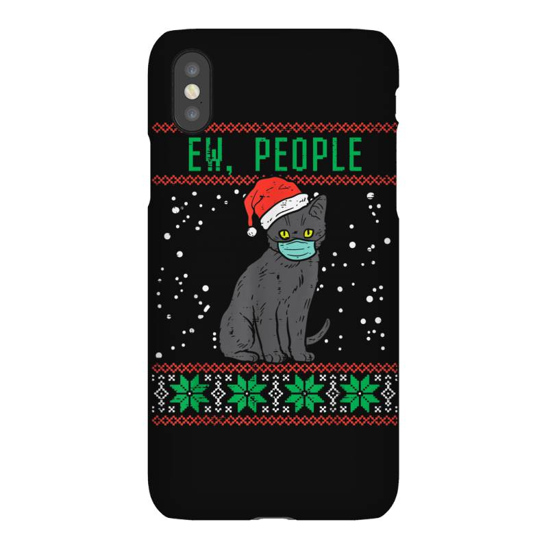 Ew People Black Cat Face Mask Iphonex Case | Artistshot