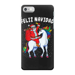 feliz navidad santa riding unicorn iPhone 7 Case | Artistshot