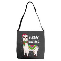 fleece feliz navidad llama christmas Adjustable Strap Totes   Artistshot
