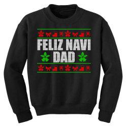 feliz navidad ugly christmas Youth Sweatshirt   Artistshot