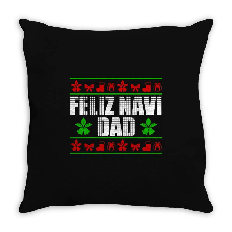 Feliz Navidad Ugly Christmas Throw Pillow | Artistshot