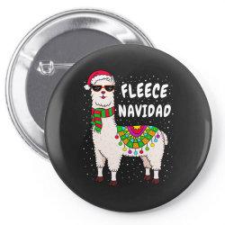 fleece feliz navidad llama christmas Pin-back button   Artistshot