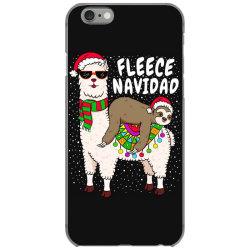 fleece feliz navidad sloth riding llama iPhone 6/6s Case | Artistshot
