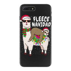 fleece feliz navidad sloth riding llama iPhone 7 Plus Case | Artistshot