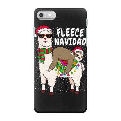 fleece feliz navidad sloth riding llama iPhone 7 Case | Artistshot