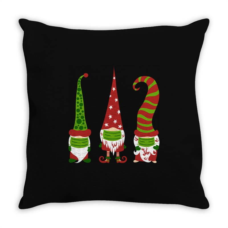 Gnomes Face Mask Matching Family Christmas Throw Pillow | Artistshot