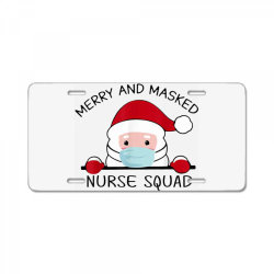merry and masked nurse squad 2020 License Plate | Artistshot