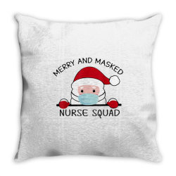 merry and masked nurse squad 2020 Throw Pillow | Artistshot