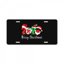 merry christmas 2020 License Plate | Artistshot