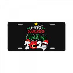 merry quarantine christmas 2020 License Plate | Artistshot