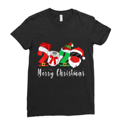 Merry Christmas 2020 Ladies Fitted T-shirt Designed By Koopshawneen
